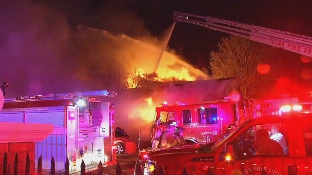 WEB EXTRA: Video From Scene Of Royal Arms Apartment Complex Fire