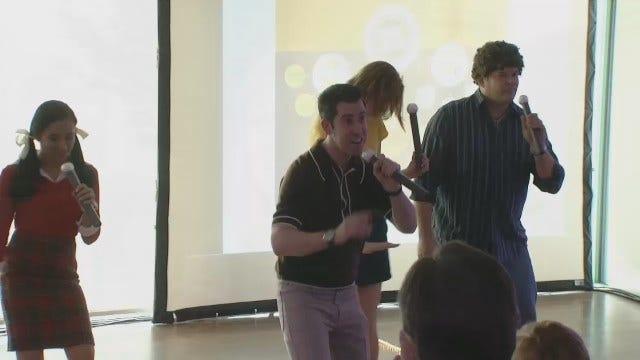 Meteorologist Mike Grogan Shows Lip Sync Skills At OK2Grow Event