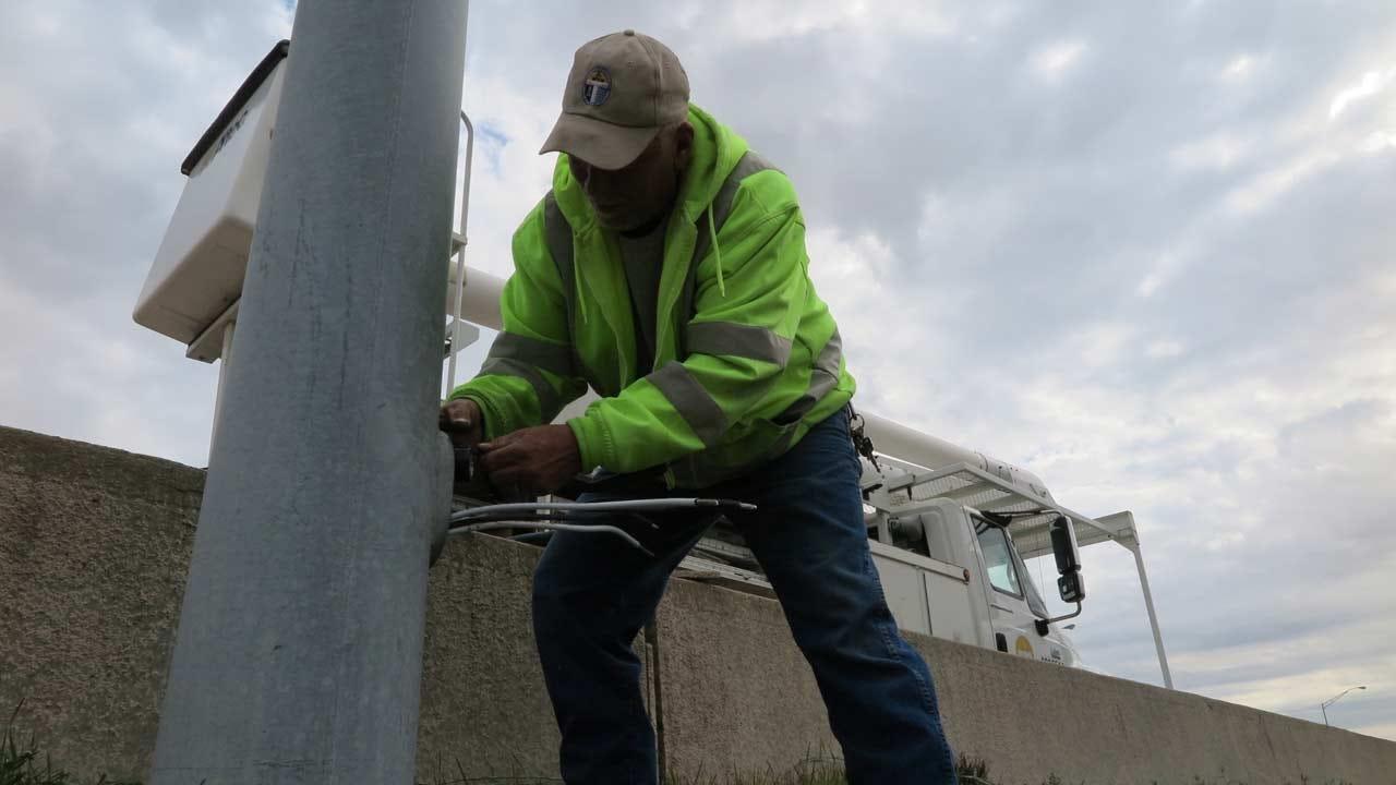 Emory Bryan: City Crews Continue Repairing Street Lights On Tulsa Highways