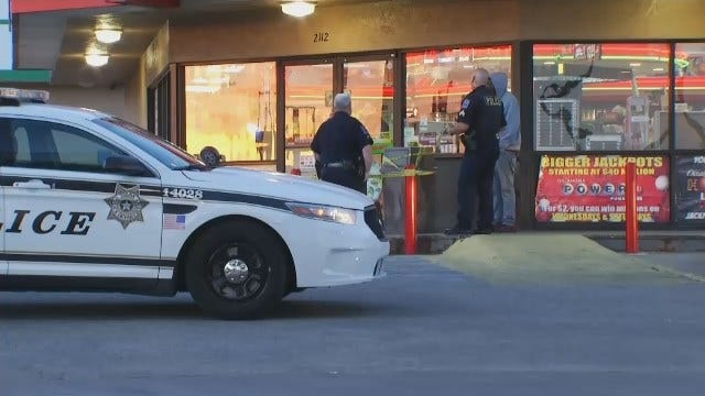WEB EXTRA: Video Of Scene Outside East Tulsa Convenience Store
