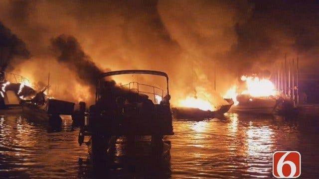 Tess Maune Reports On Keystone Lake Pier 51 Fire