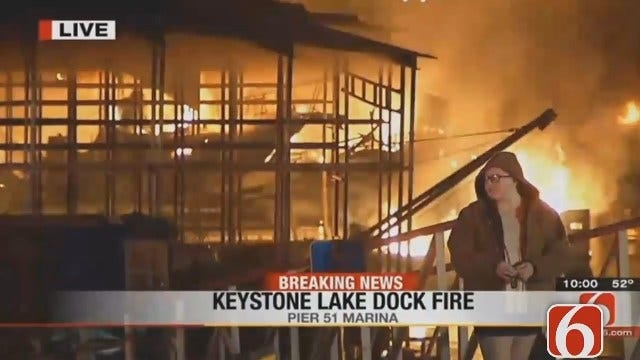 Dave Davis Reports From Keystone Lake Pier 51 Marina Fire