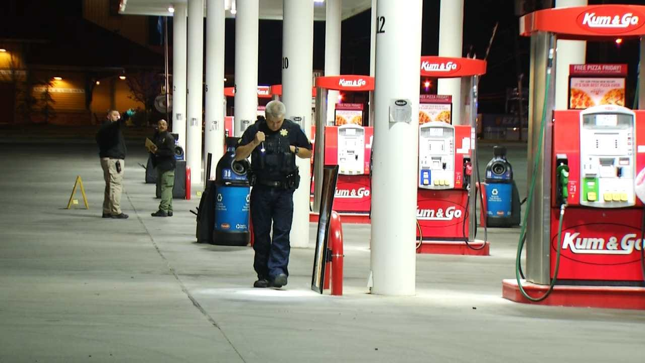 Scenes From Shootout At Tulsa Gas Station