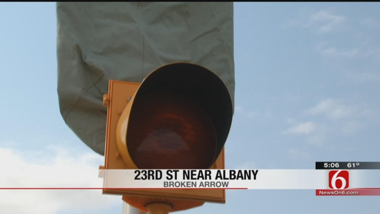 B.A. School Zone Sign Broken, Drivers Advised To Watch Speed