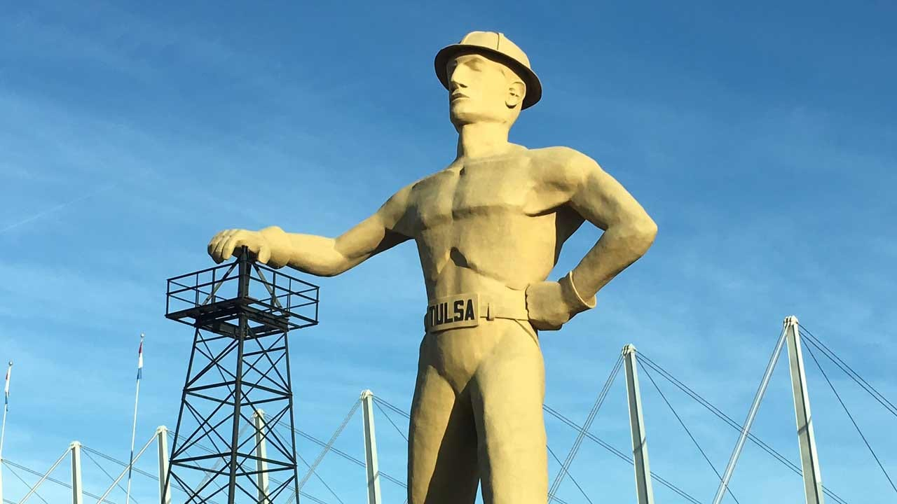 Emory Bryan Reports On The Golden Driller's Big Birthday Party