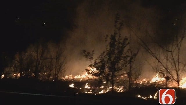 Tess Maune Reports On Tulsa County Grass Fire