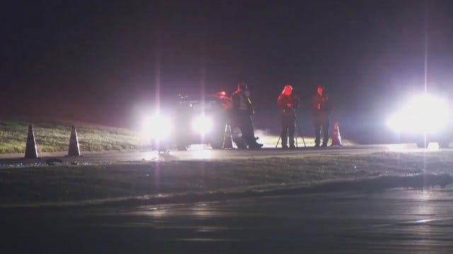 WEB EXTRA: Motorcycle Crash On Tulsa Tisdale Parkway
