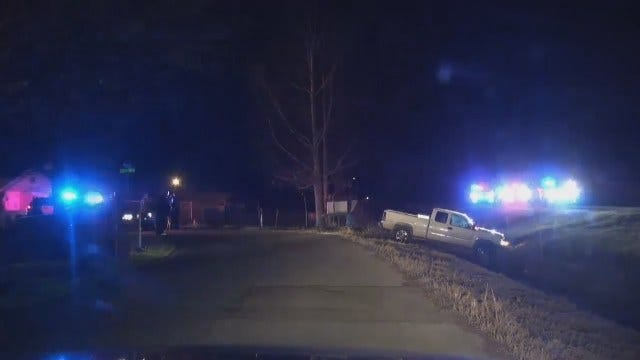 WEB EXTRA: Video From Scene At End Of Sand Springs Police Chase