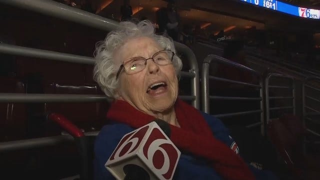 Retired 98-Year-Old Bartlesville Native Attends Thunder Game In Philly