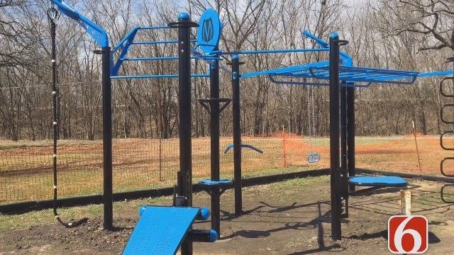 Bartlesville Installs Outdoor 'Adult Jungle Gym' At City Park