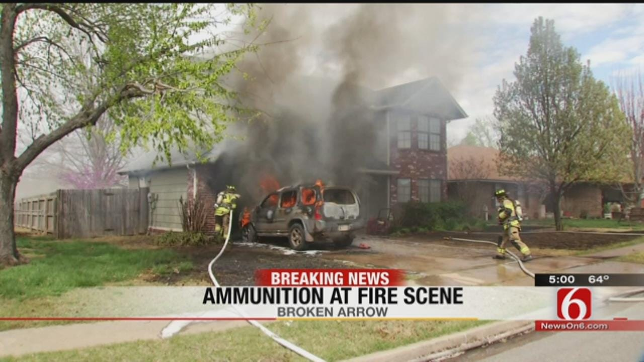 Broken Arrow Home Fire Spreads From Garage To Car In Driveway