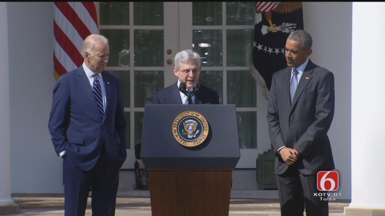 Federal Judge Merrick Garland Speaks At President Obama's News Conference