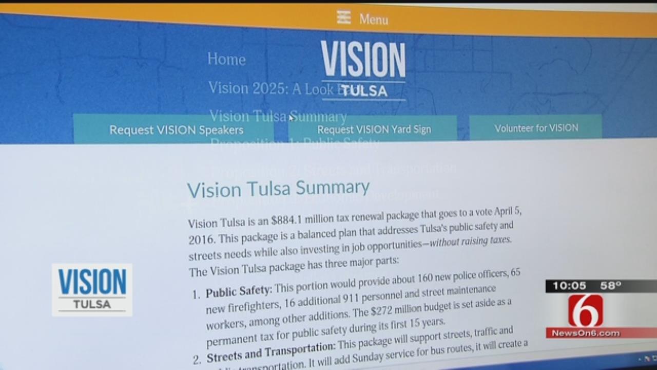 Vision Tulsa Tax Extension Broken Into Three Individual Parts