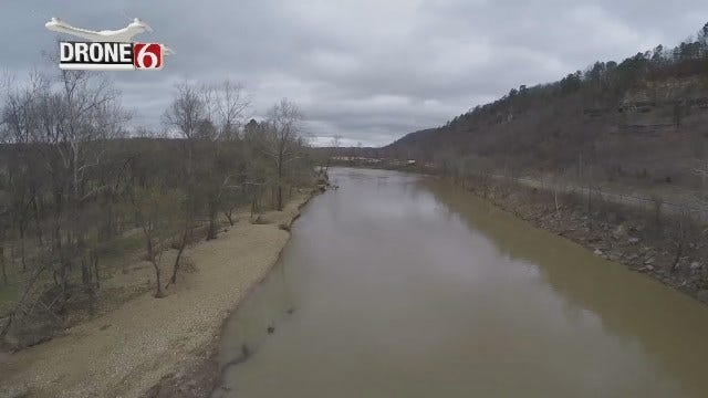 Drone 6 Video Of Illinois River Levels Near Tahlequah