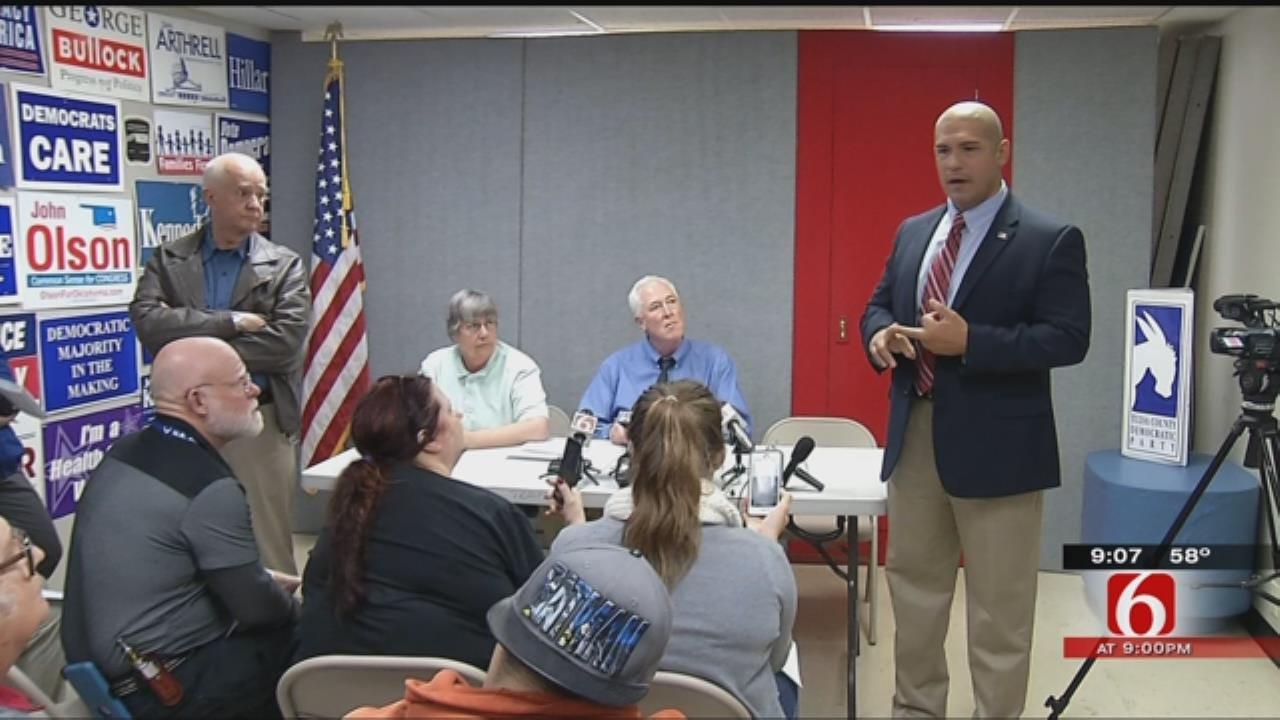 Republican Sheriff Candidate Crashes Tulsa Democrats' Press Conference
