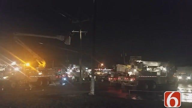 Dave Davis Says East Tulsa Crash Damages Power Pole, Gas Meter