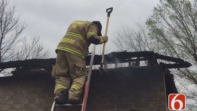 Tess Maune Reports On Drumright Firefighter Whose Home Burned