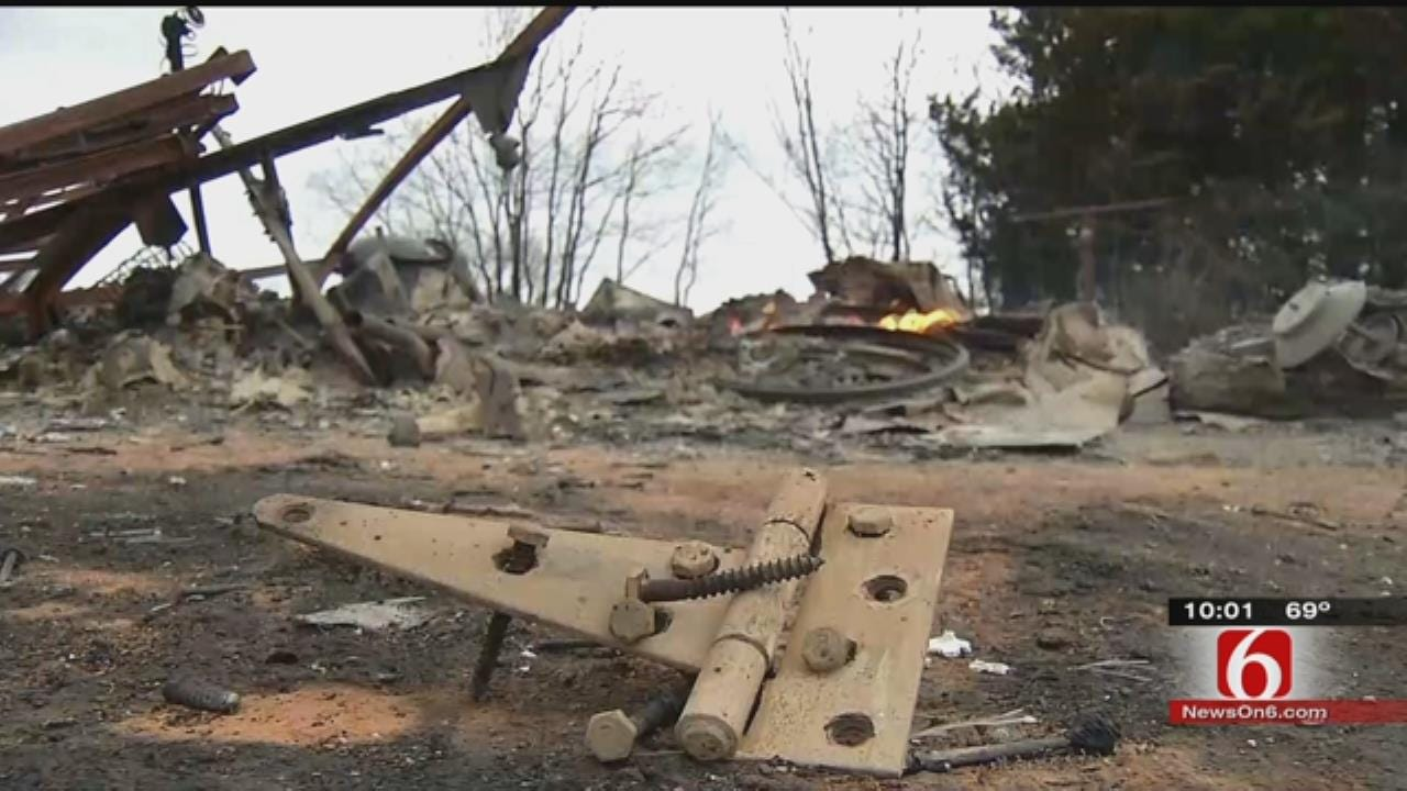 Rural Cleveland Grassfire Burns Two Homes; Dog's Bark Saves Residents