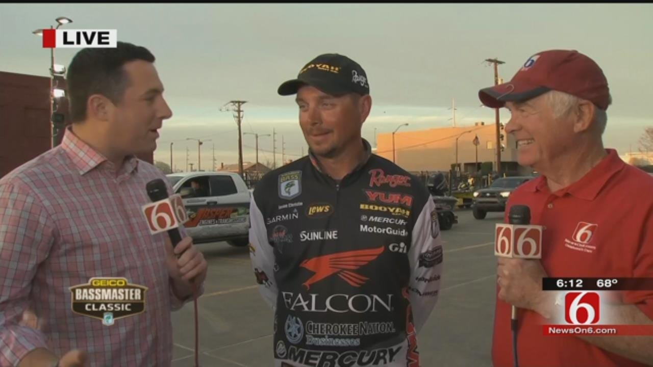 WEB EXTRA: Oklahoman Jason Christie Leads After Day 1 In Bassmaster Classic