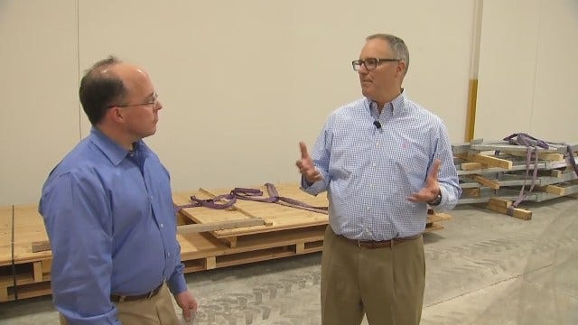 WEB EXTRA: Construction Of Towers At Gathering Place