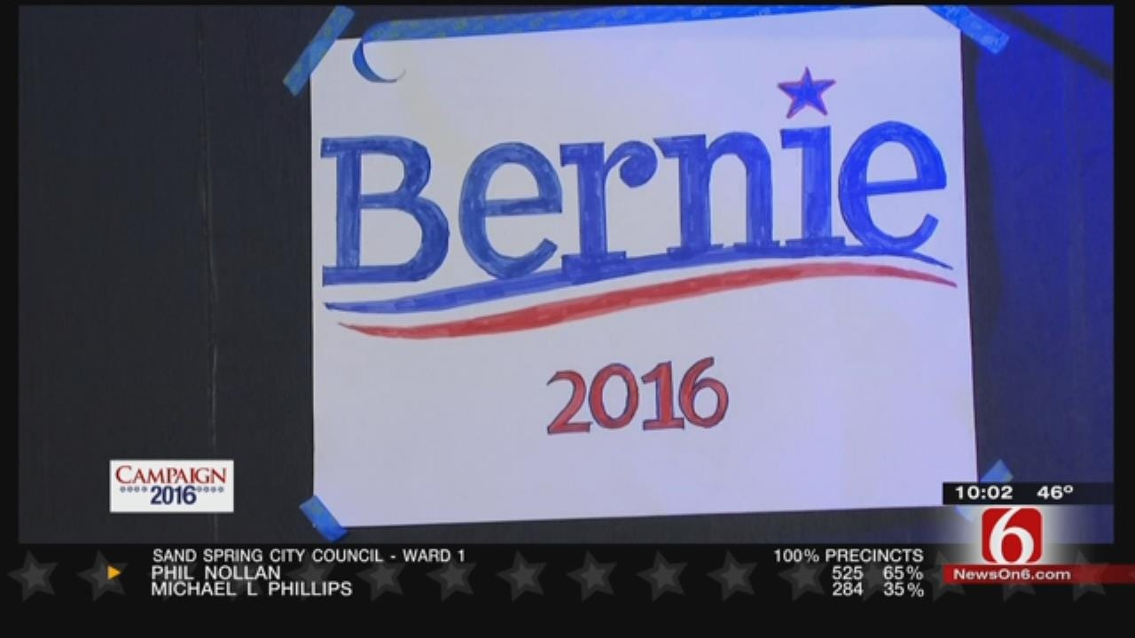 Sanders Upsets Clinton, Projected To Take Oklahoma