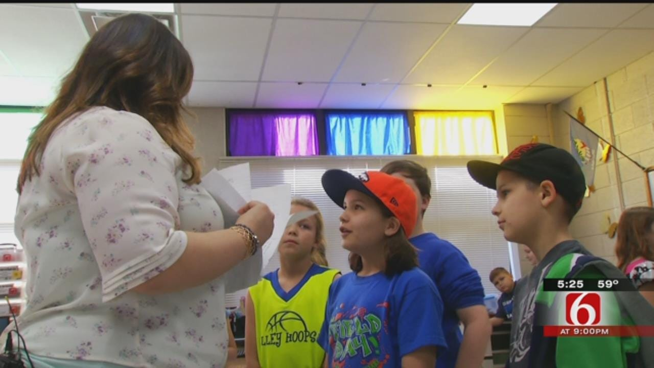 Sand Springs Teacher Using Grants To Help Offset Budget Cuts