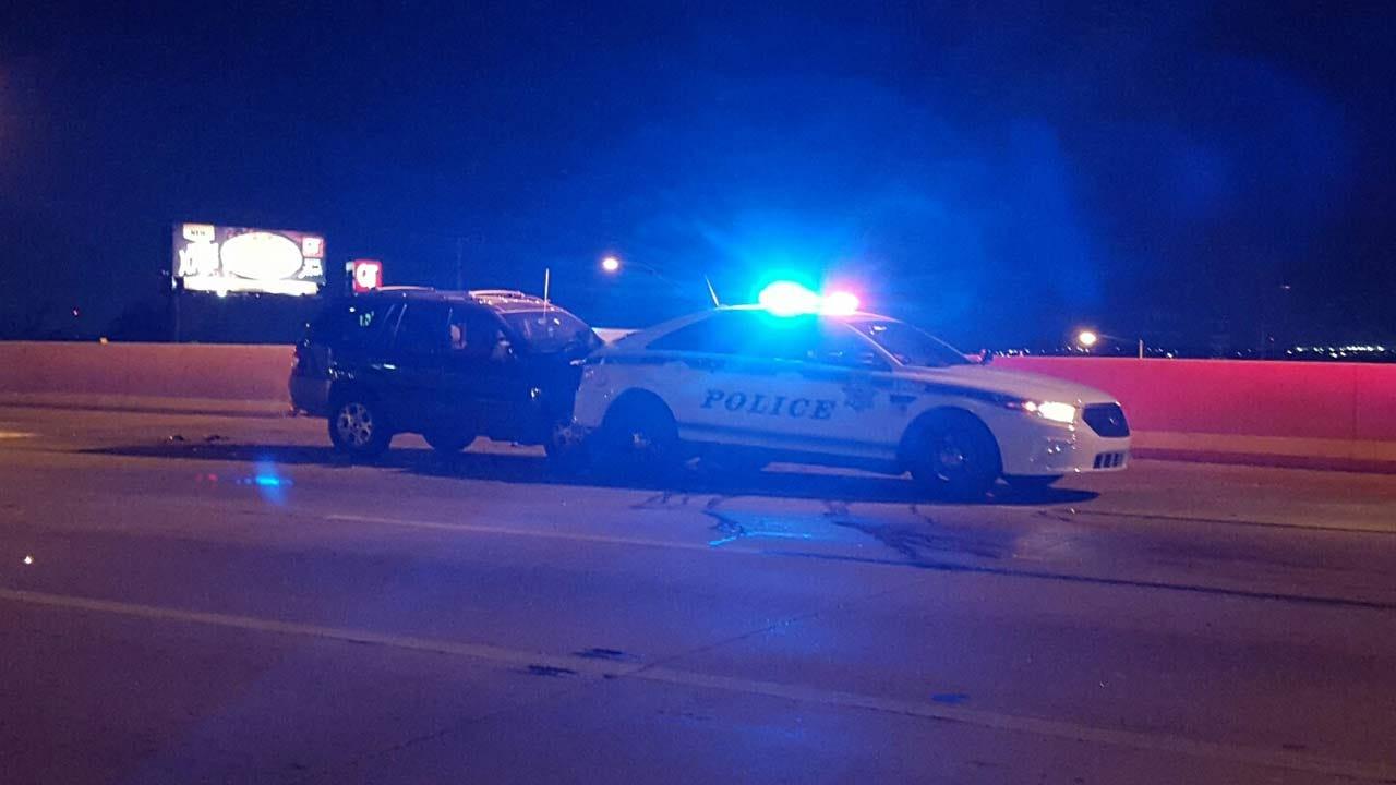 Driver Slams Into Tulsa Police Cruiser