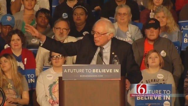 WEB EXTRA: Part 4 Of Bernie Sanders Addressing Tulsa Crowd