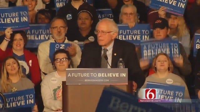 WEB EXTRA: Part 3 Of Bernie Sanders Addressing Tulsa Crowd