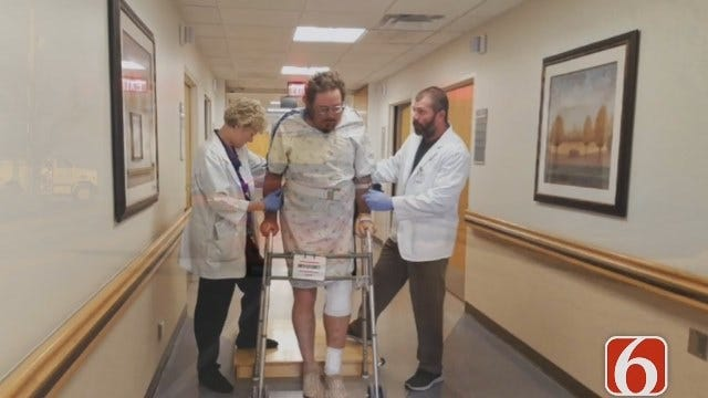 Melissa Hawkes Talked To Firefighter Who Suffered Broken Leg At Nowata Grass Fire