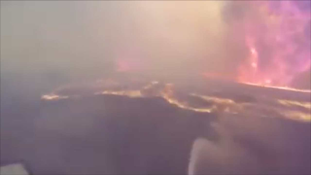 WATCH: Firefighter Cam Gives Peek Into Belly Of Pawnee County Wildfire