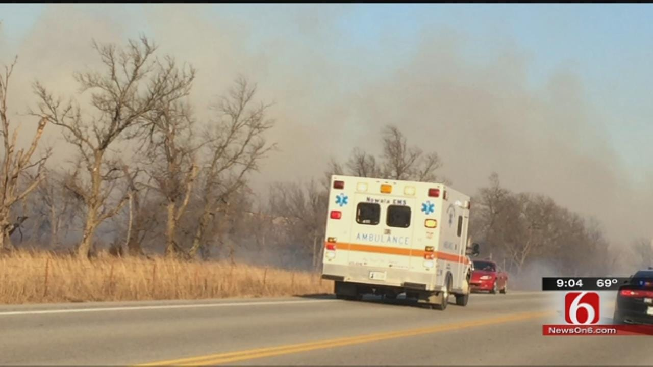 Firefighter Hit By Vehicle While Fighting Nowata County Fire