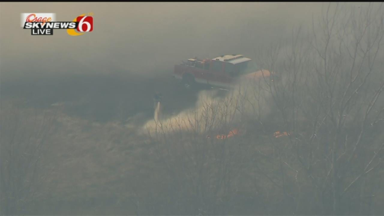 Osage SkyNews 6 HD: Will Kavanagh Reports On Owasso Wildfire