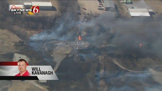 Osage SkyNews 6 HD: Industrial Fire Near Chandler Park