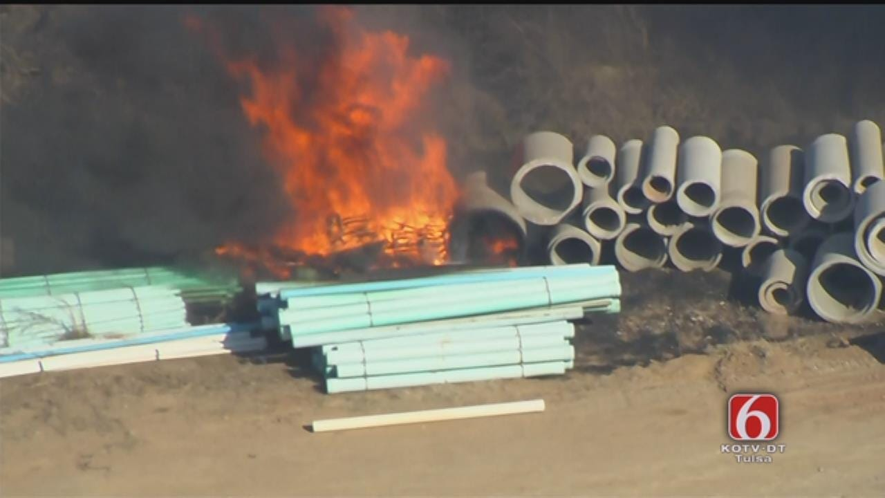 Osage SkyNews 6 HD Flies Over Tulsa Industrial Site Fire