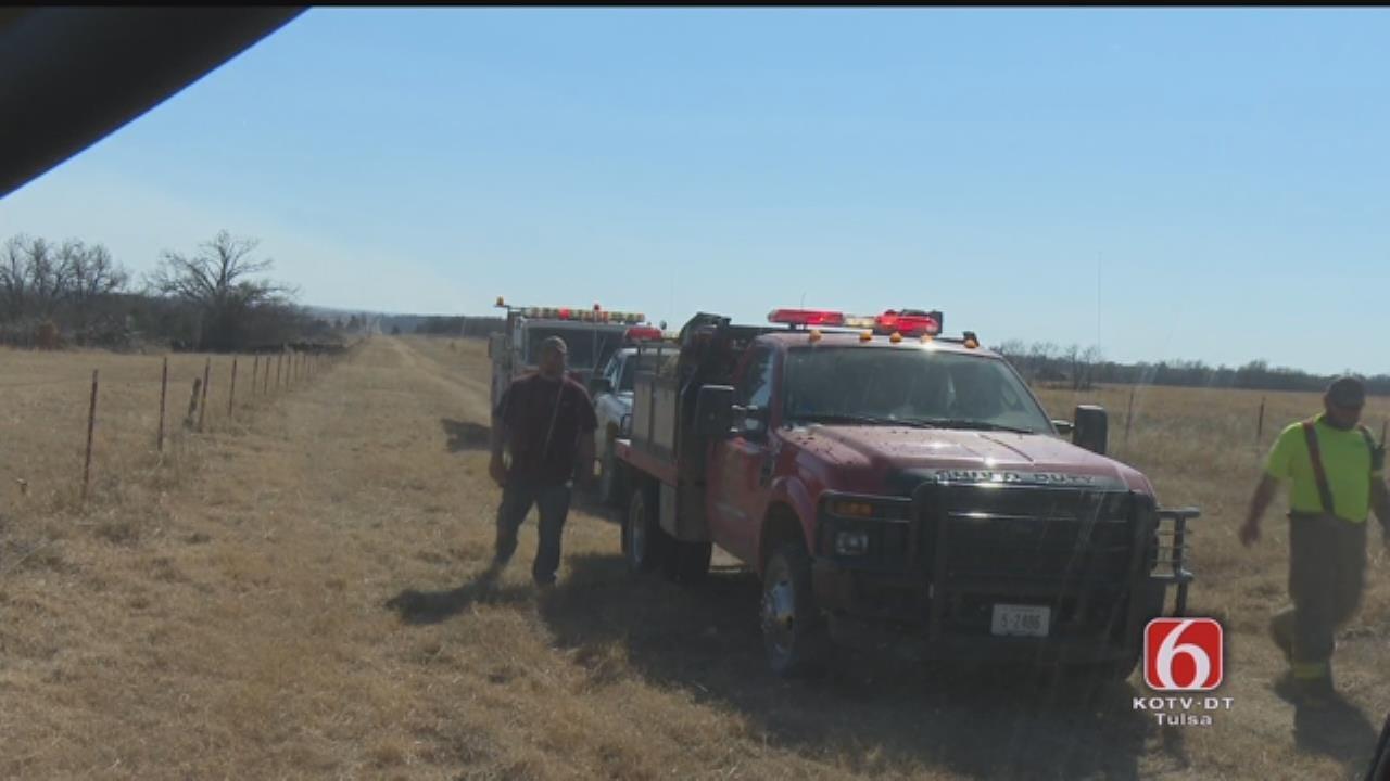 Von Castor Reports From Grass Fire Near Oktaha