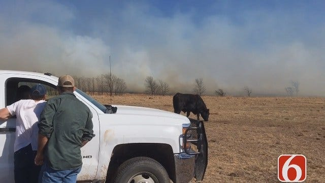 Darren Stephens Reports From Grassfire Raging In Okmulgee County