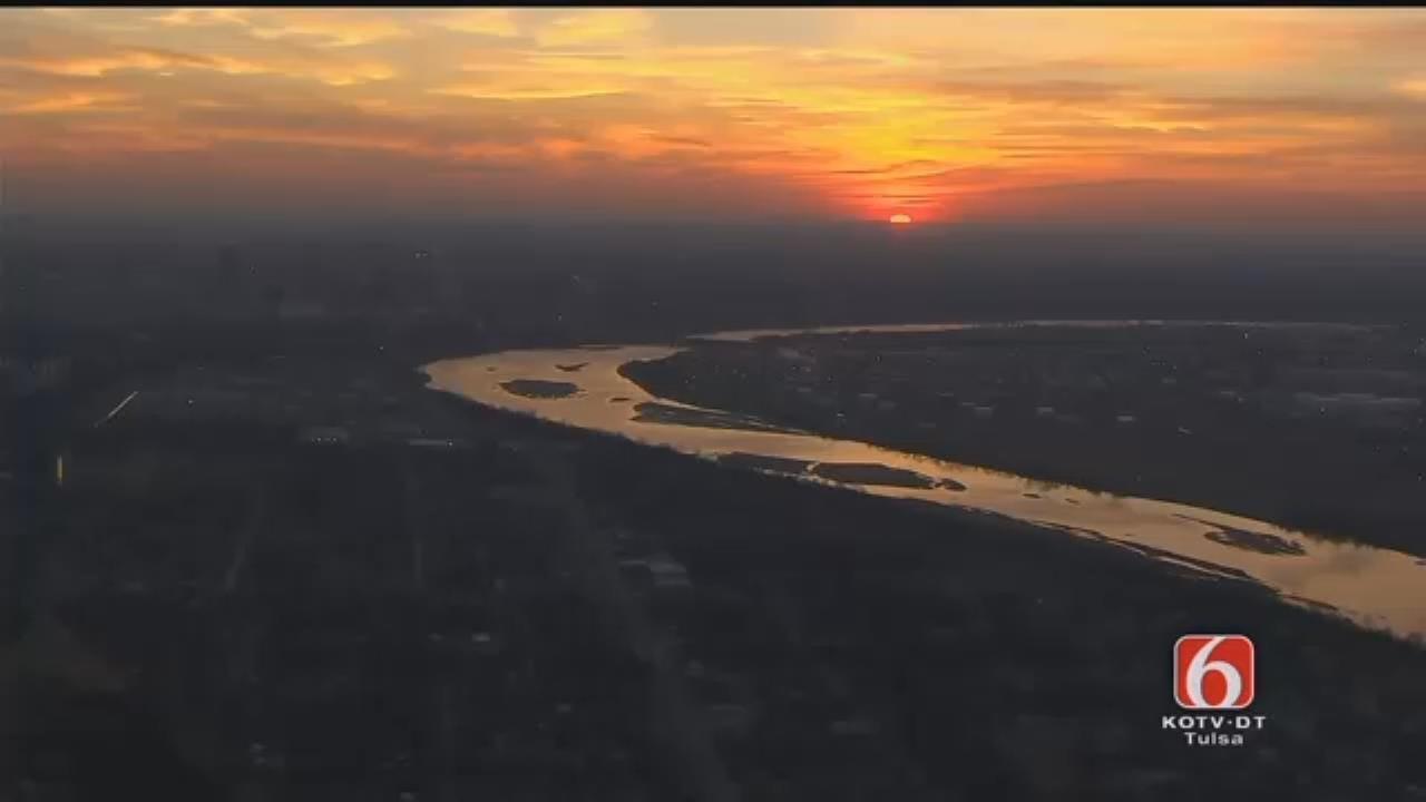 WEB EXTRA: Osage SkyNews 6 HD: Sun Rises Over Arkansas River