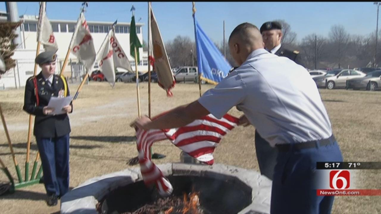Tulsa Edison Students Hold 'Funeral' For Flags