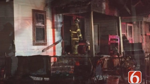 Two People Safe After Tulsa House Fire