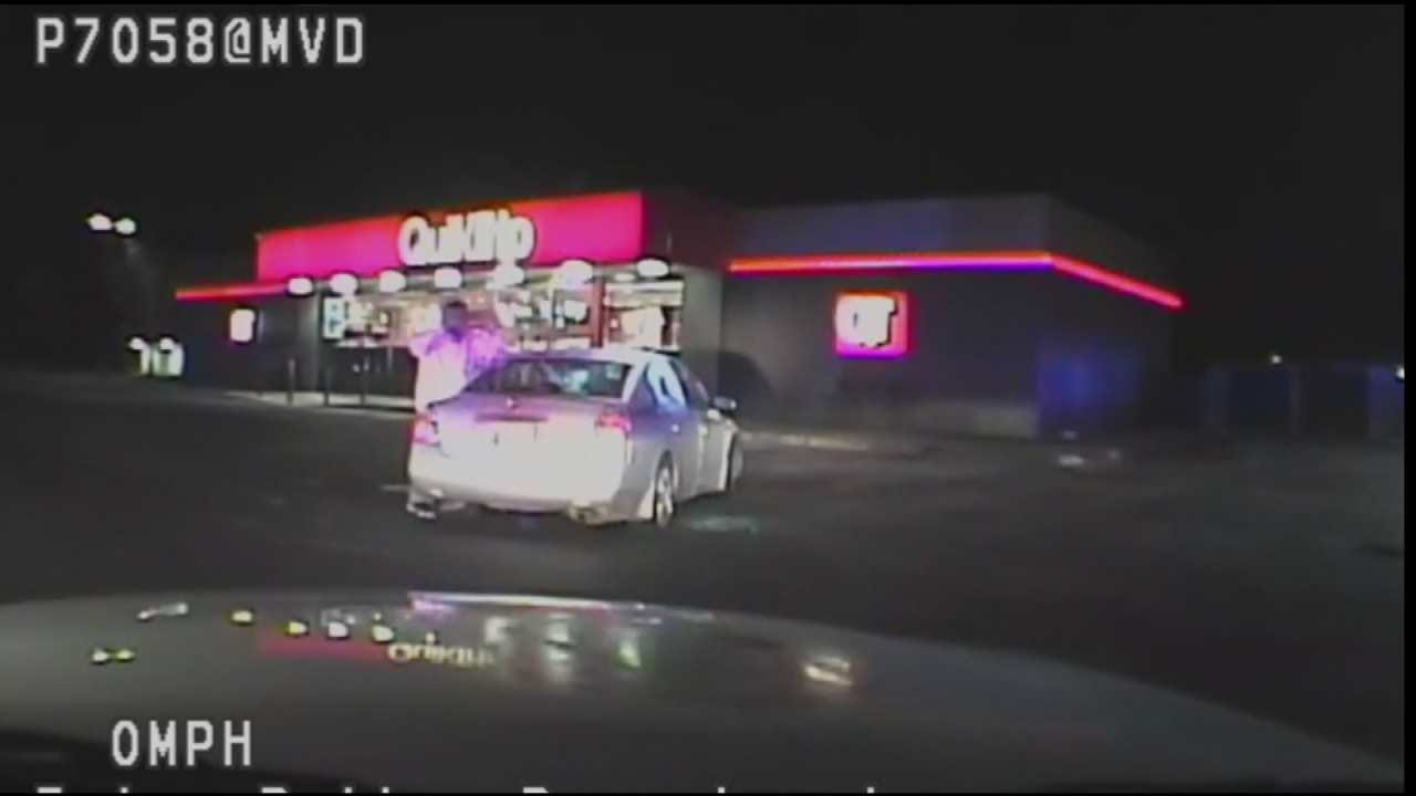 WEB EXTRA: Tulsa Police Chase Ends In QuikTrip Parking Lot, Part 2