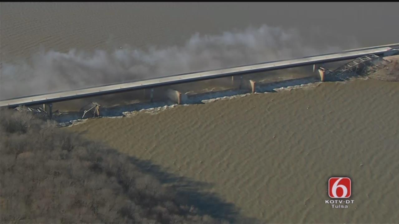Osage SkyNews 6 HD: Wagoner County Bridge Implosion