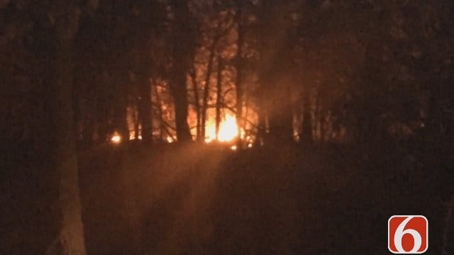 Photojournalist Gary Kruse Reports From Creek County Grass Fire