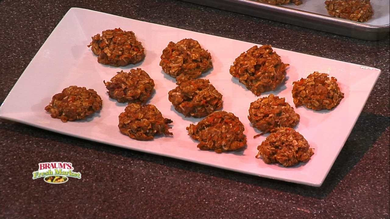 Carrot-Coconut Oatmeal Cookies