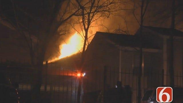 Dave Davis Reports On Tulsa Apartment Fire