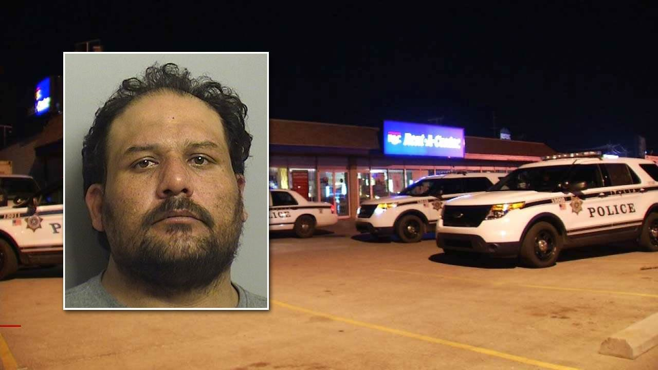 Tulsa Police Arrest Man Suspected Of Breaking Into Rent-A-Center