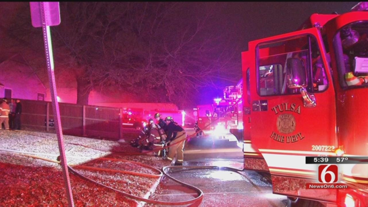 Dog Wakes Owner To Tulsa House Fire