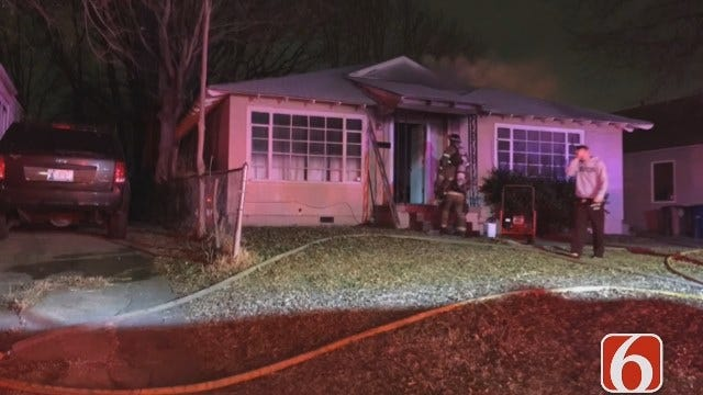Tony Russell Reports: Dog Wakes Owner To Tulsa House Fire