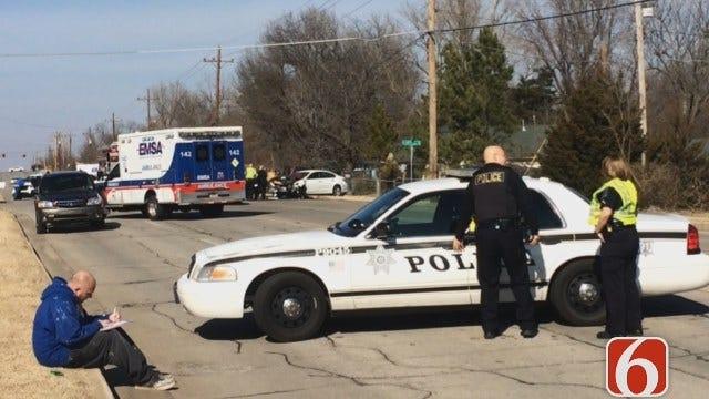 Katiera Winfrey On Scene Of A Reported Tulsa Car Crash