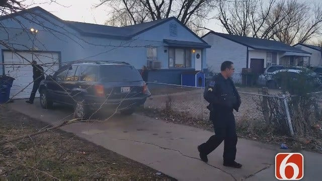 Tulsa Man Found Inside Home, Shot In The Chest